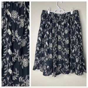 WEEKEND Max Mara Pleaded Floral Skirt 10